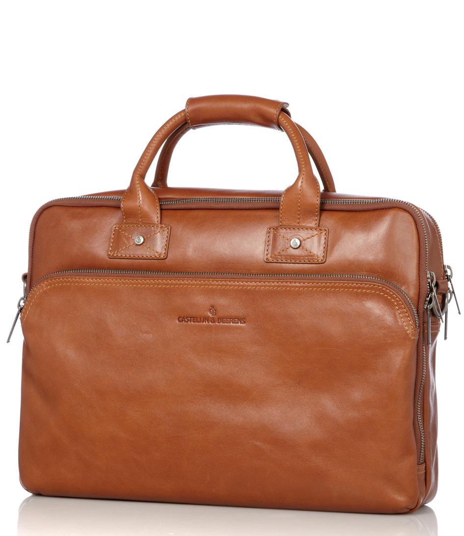 Castelijn & BeerensHand bags for menFirenze Laptop Bag 17 inchBrown