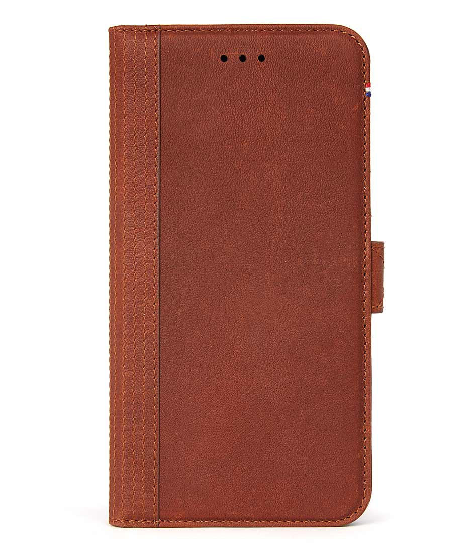 DecodedSmartphone coversiPhone 67 Plus Leather Wallet Case Magnetic ClosuBrown