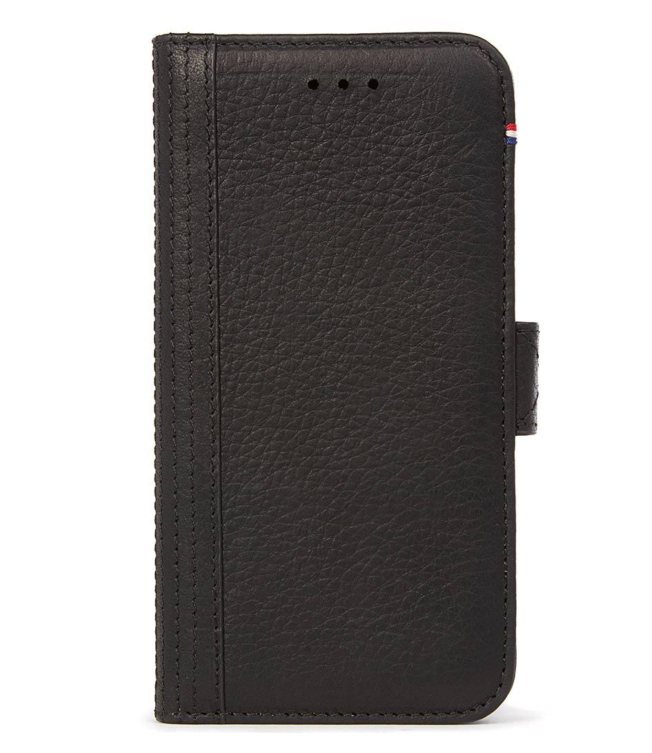 DecodedSmartphone coversiPhone 7 Leather Wallet Case Magnetic ClosureBlack