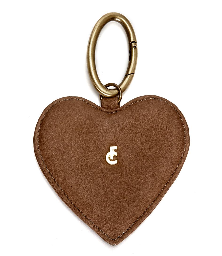 Fabienne ChapotKeyringsFC Logo Keyholder HeartTaupe