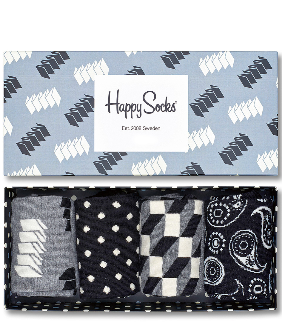 Happy SocksSocksSocks Optic GiftboxBlack