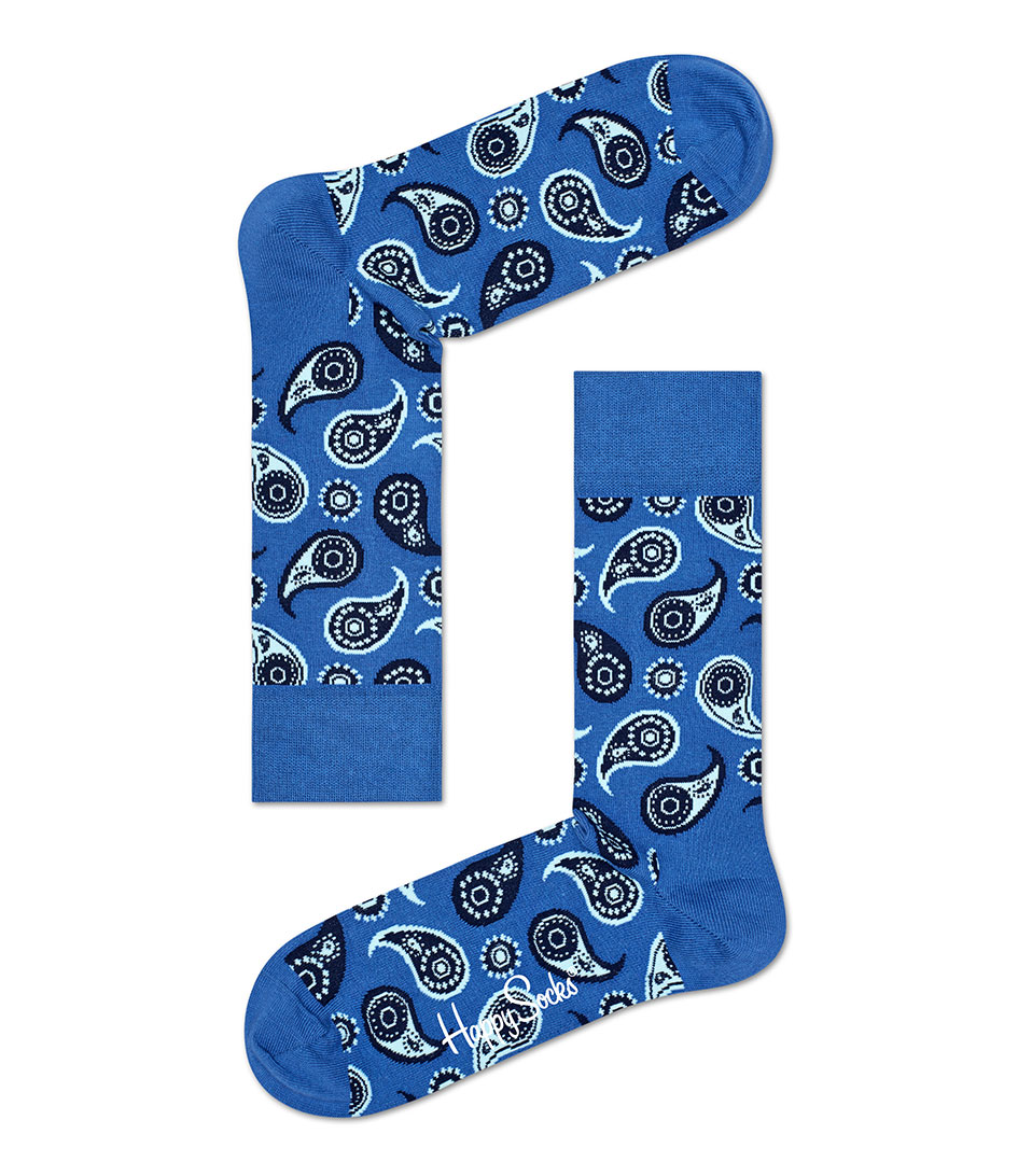 Happy SocksSocksSocks PaisleyBlue