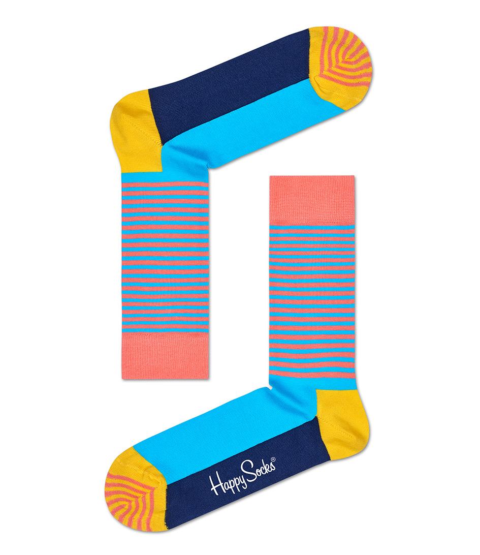Happy SocksSocksHalf Stripe SocksBlue