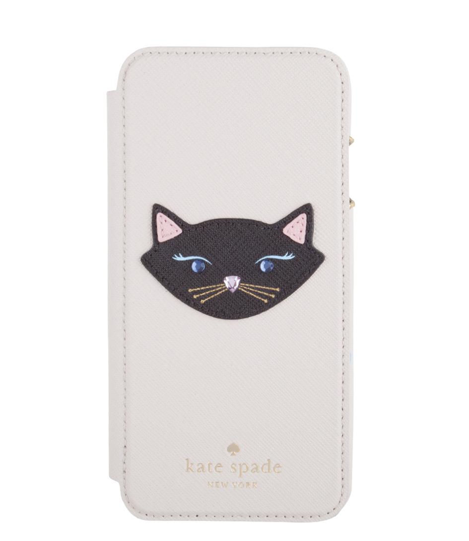 Kate SpadeSmartphone coversiPhone 6 Case Leather Cat FolioWhite