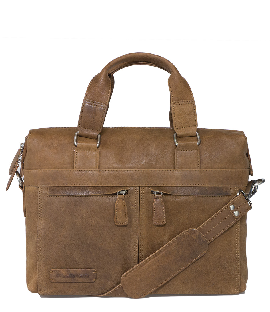 PlevierHandbagsDocument Bag 1214 inch LaptopBrown