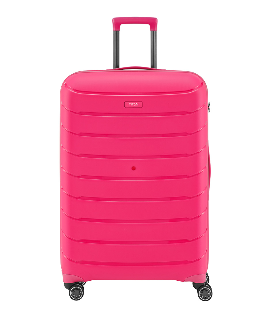 TITANSuitcasesLimit Large Trolley 4 WeelsPink
