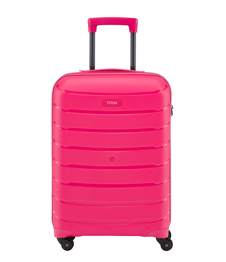 TITANSuitcasesLimit Small Trolley 4 WheelsPink