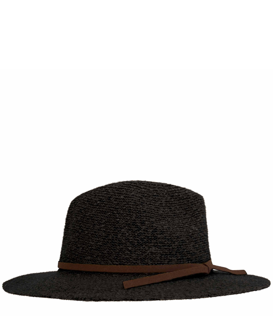 Unmade CopenhagenHats and capsNew Texture Wool HatBlack